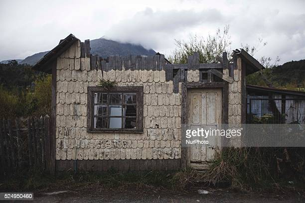 An abandoned house in center of Chaiten city, Palena Province, Chile. April 2015 a few days ago Calbuco volcano erupted. (Photo by Javier...