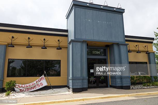 An abandoned restaurant that used to be one of the major national chain restaurants is seen empty August 7 in Fairfax Virginia AFP PHOTO/Paul J...