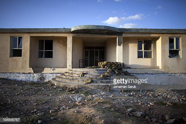 An abandoned school at the Jaghatu District Center May 11 2009 in Jaghatu District Wardak Province Afghanistan US soldiers from the 3rd Brigade 10th...