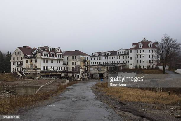 An abandoned section of the Balsams Resort stands in Dixville Notch New Hampshire US on Thursday Nov 17 2016 Les Otten founder of American Skiing Co...