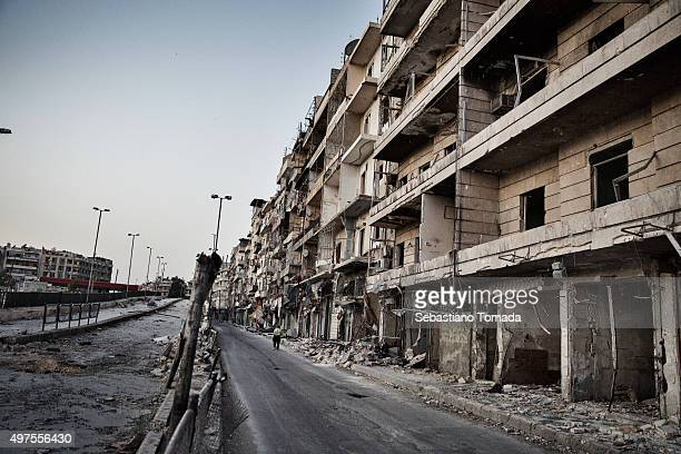 An abandoned street in Aleppo Syria June 19 2014