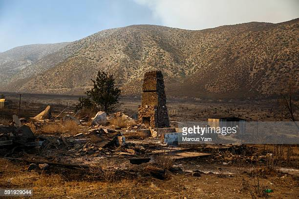 AUGUST 18 An abandoned structure sits in the path of the Blue Cut Fire after it has passed through Lone Pine Canyon in San Bernardino County Calif on...