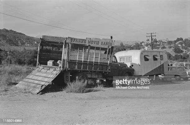 An abandoned truck at the Spahn Movie Ranch owned by American rancher George Spahn and residence of the Manson Family Los Angeles County California...