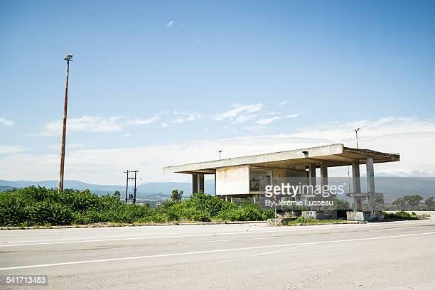 An abandonned customs post