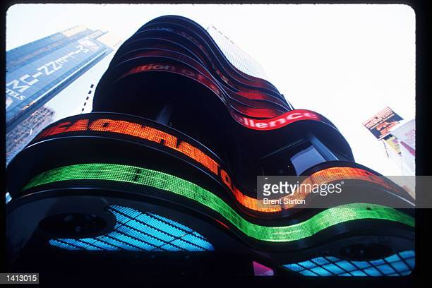 An ABC Television Studios zipper displays news in Times Square November 15, 1999 in New York City. The Times Square area is undergoing a thorough...