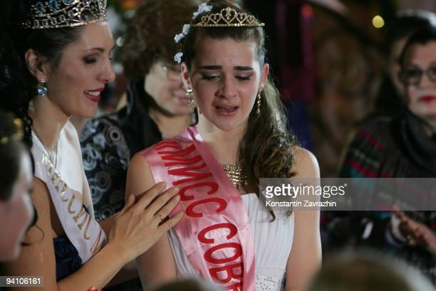 An Abkhazian girl Winner of 'Miss Perfection' an Internationanal children's beauty pagent during the final performance on December 6 2009 in Moscow...
