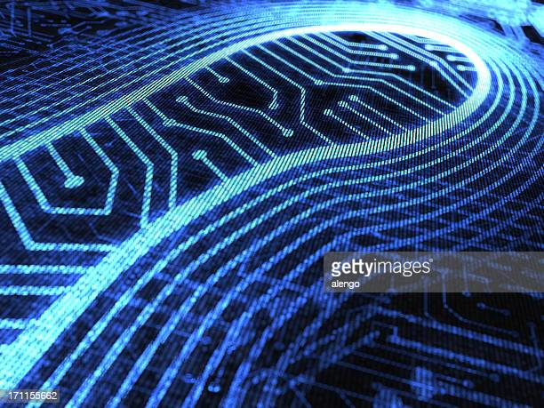 an abstract image of a digital footprint - footprint stock pictures, royalty-free photos & images