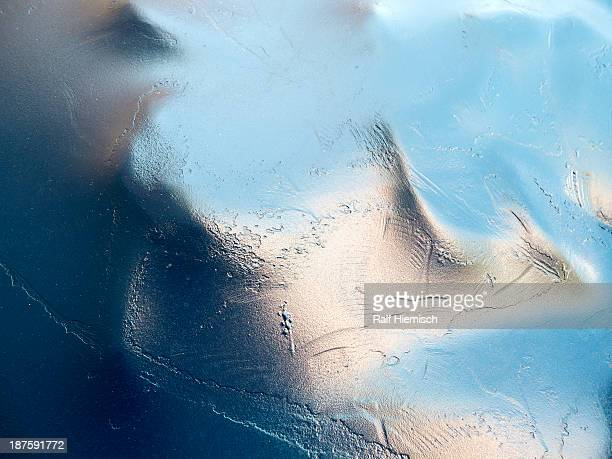 An abstract view of a textured shiny surface
