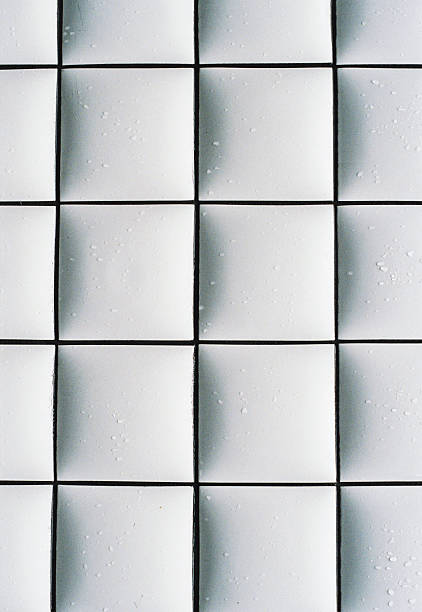 An abstract white tile