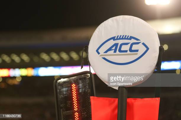 An ACC logo during the game against the Notre Dame Fighting Irish and the Louisville Cardinals on September 2nd 2019, at Cardinal Stadium in...
