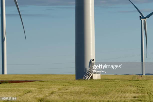 An access door to a wind turbine is seen at the Hornsdale wind farm operated by Neoen SAS near Jamestown South Australia on Friday Sept 29 2017...