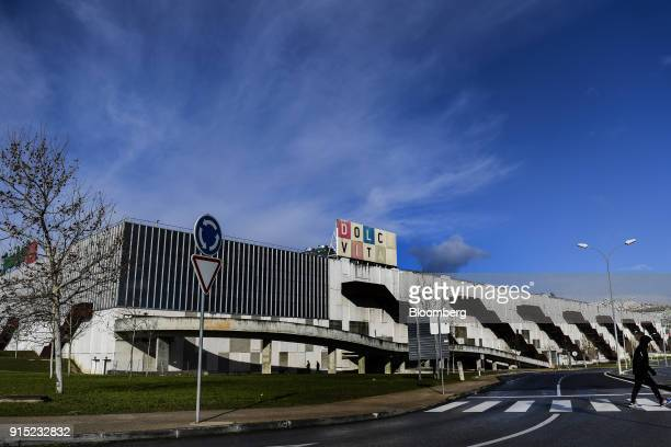 An access road leads past the Dolce Vita Tejo shopping mall operated by AXA Real Estate Investment Managers SGR SpA in Lisbon Portugal on Friday Feb...