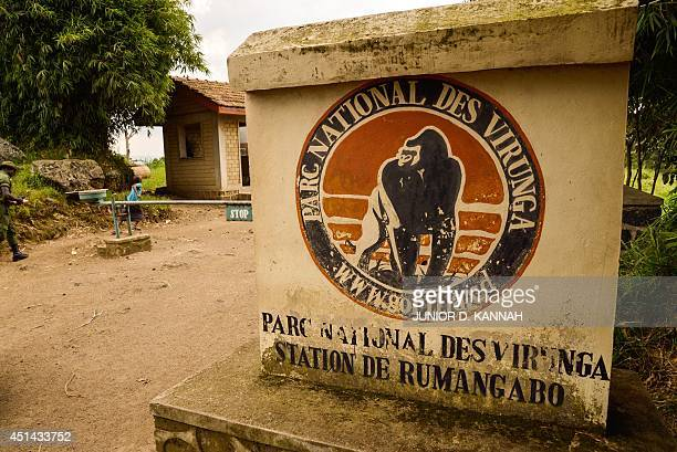 An access to the Virunga National Park is seen near Rutshuru on June 17 2014 People living in and around Africa's oldest wildlife reserve Virunga...