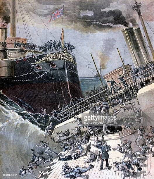 An Accident Aboard the 'Victoria' 22 June 1893 The Camperdown rammes the Victoria by mistake causing the death of Admiral Tyron and 359 Officers and...
