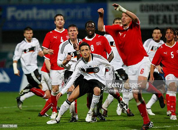 An action during the Under 20 international friendly match between Switzerland and Germany at the Cornaredo stadium on March 28 2009 in Lugano...