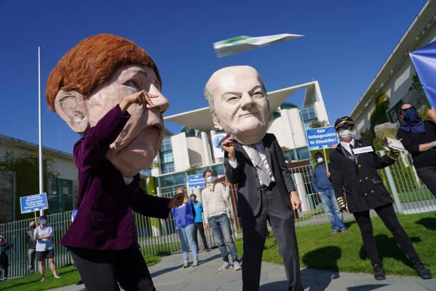 DEU: Activists Protest Against Lufthansa Bailout