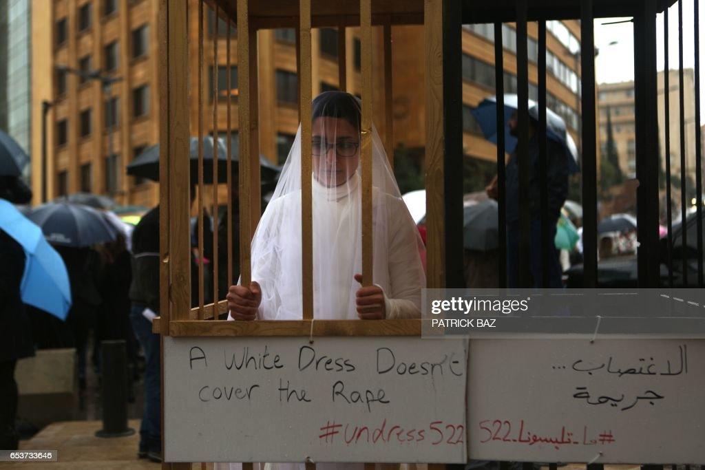 LEBANON-LAW-DEMO-WOMEN-VIOLENCE : News Photo