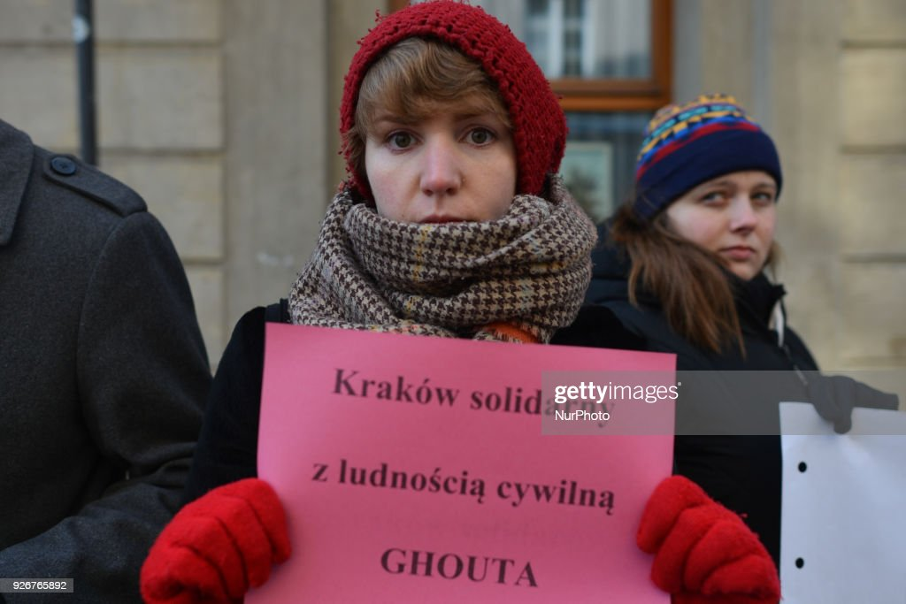 Krakow's activists call for end to 'Syrian genocide' : News Photo