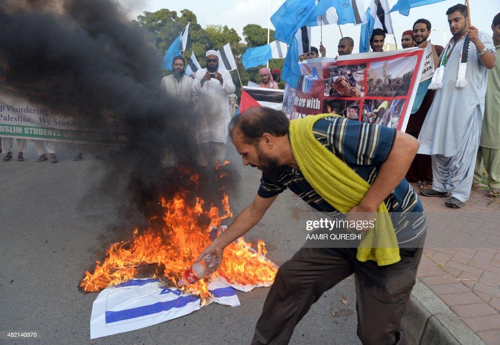 PAKISTAN-MIDEAST-PROTEST : News Photo