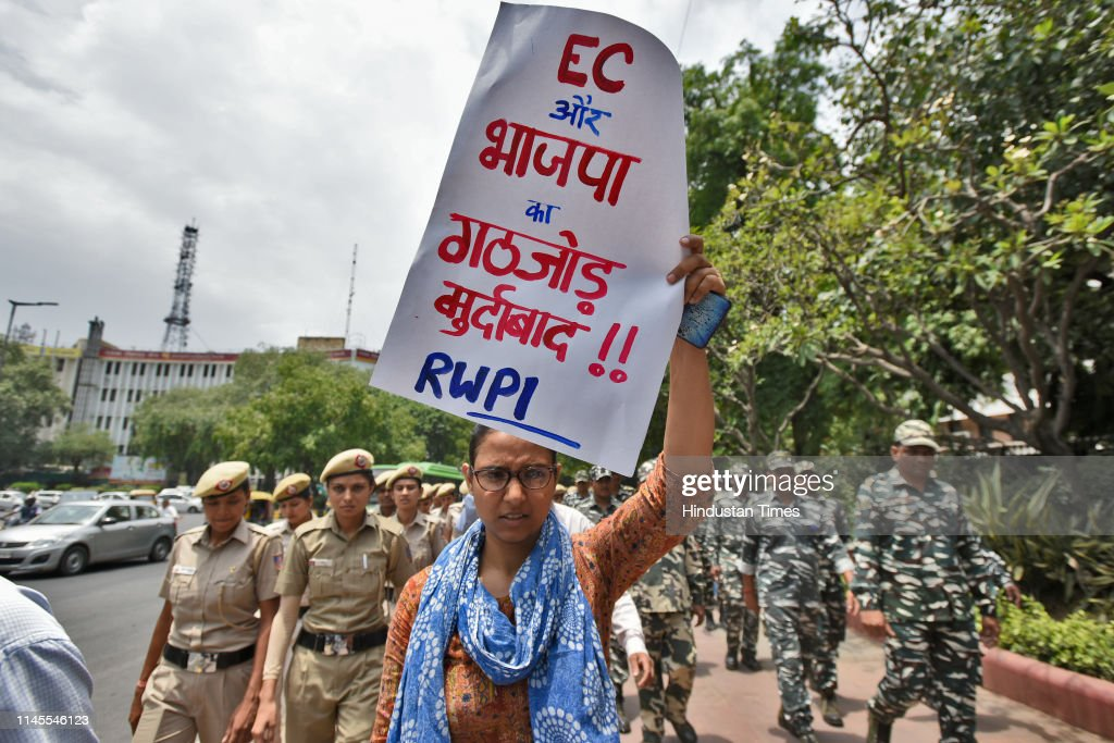 IND: Protest Against BJP And EC Over VVPATs Counting