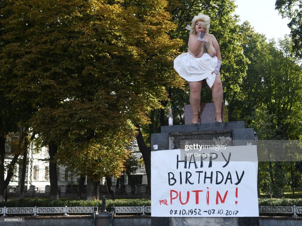 UKRAINE-RUSSIA-FEMEN-DEMO : News Photo
