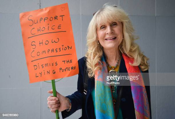 An activist Patricia Gorey attends a Rally for Equality Freedom amp Choice organised by ROSA an Irish Socialist Feminist Movement at Liberty Hall in...