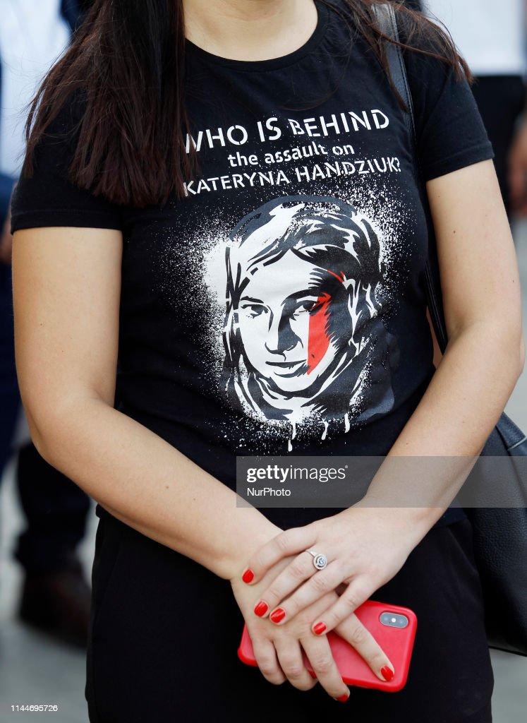 UKR: Rally With Demand To Investigate The Murder Of Activist Kateryna Handziuk In Kiev