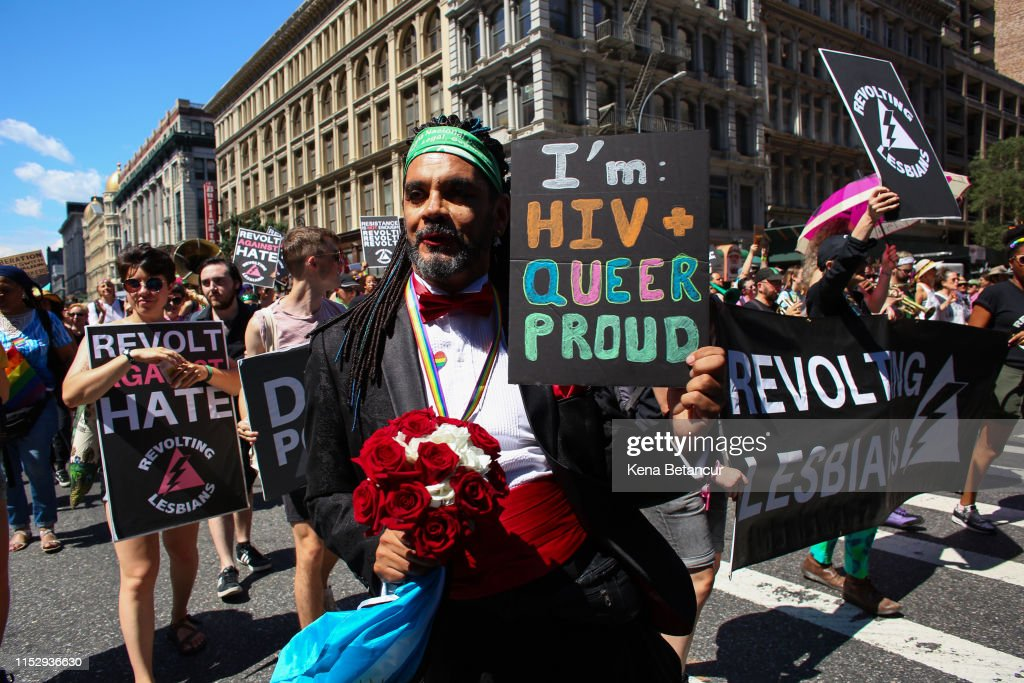 """""""Queer Liberation March"""" Organized As Alternative To Major NYC Pride Parade : News Photo"""