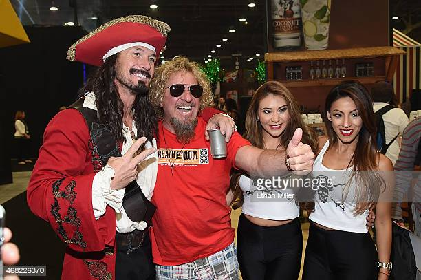 An actor as brand icon Captain Morgan recording artist Sammy Hagar and promotional models the Morganettes attend the 30th annual Nightclub Bar...
