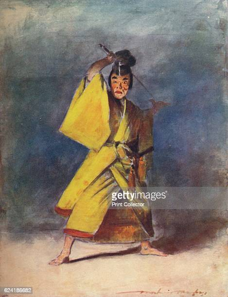 An Actor' c1887 From Japan A Record in Colour by Mortimer Menpes [Adam Charles Black London 1901] Artist Mortimer L Menpes