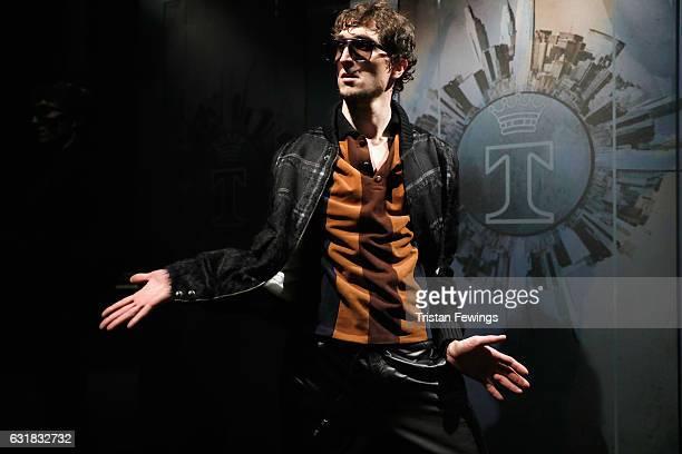 An actor performs at Trussardi presentation during Milan Men's Fashion Week Fall/Winter 2017/18 on January 16, 2017 in Milan, Italy.