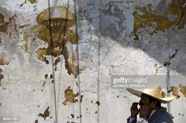 """An actor performs the """"Death of Zapata"""", during the anniversary of the death of Mexican heroe Emiliano Zapata in Chinameca community, Morelos State,..."""