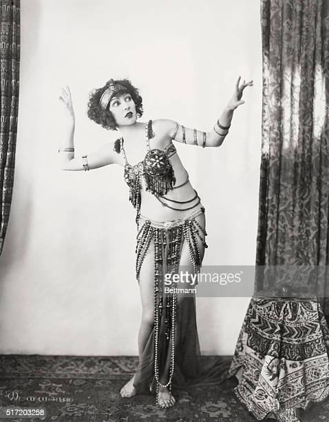 An actress of the 1920s and 1930s Joyzelle Joyner dressed in an exotic dance costume