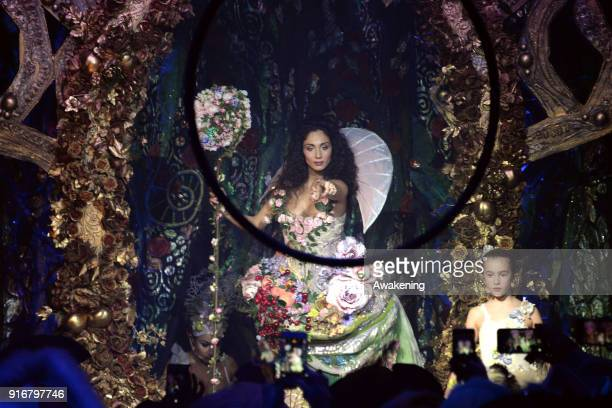 An actress performs at Palazzo Pisani Moretta during the annual Ballo del Doge on February 10 2018 in Venice Italy The Ballo del Doge created by...