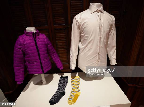 An adaptive Puffer jacket Trig compression socks and MagnaReady magnetic shirt are displayed as part of the AccessAbility exhibit at the Cooper...