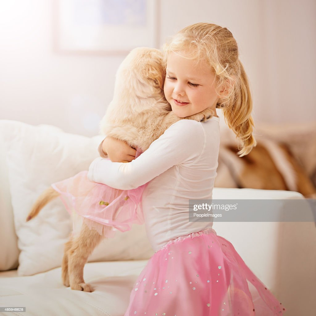 You're my poochie, you're my pal : Stock Photo