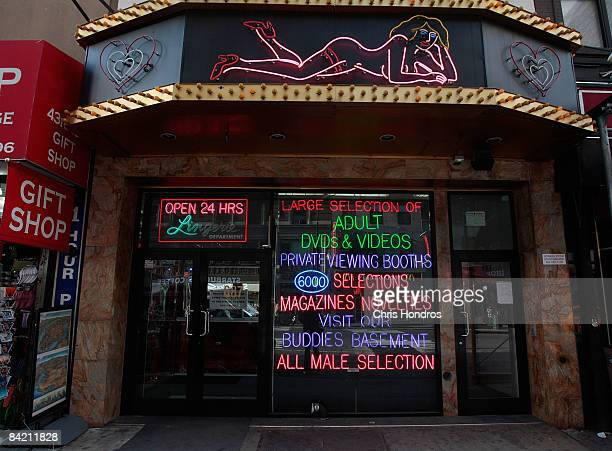 An adult video store is seen January 8 2009 in New York According to reports Porn industry leaders Larry Flynt and Joe Francis are asking for five...