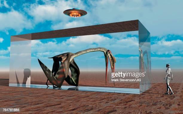 An Advanced Civilization Capturing A Quetzalcoatlus