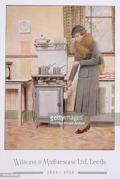 An advertisement for a new cooker by manufacturers Wilsons and Mathiesons of Leeds 19351936