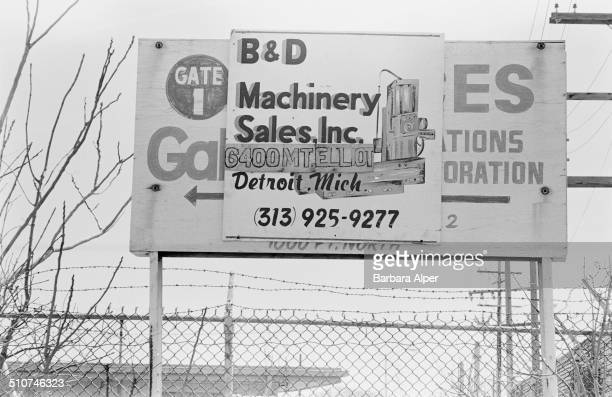 An advertisement for BD Machinery Sales Inc in Detroit Michigan USA 24th April 1986
