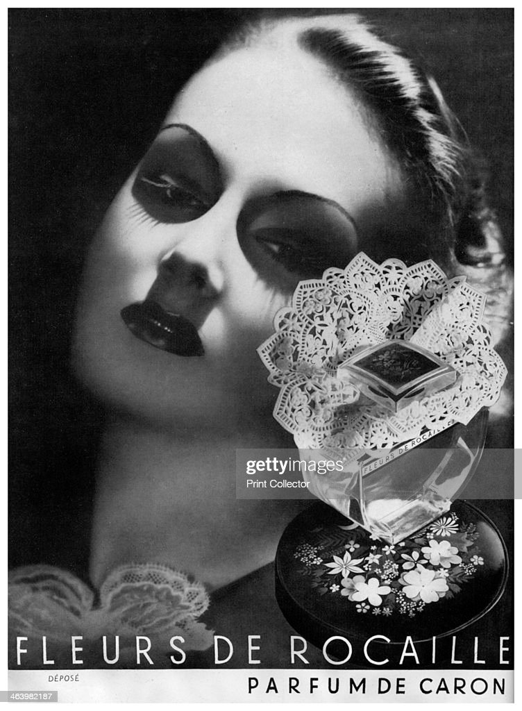 An advertisement for Caron perfume, 1938. : News Photo
