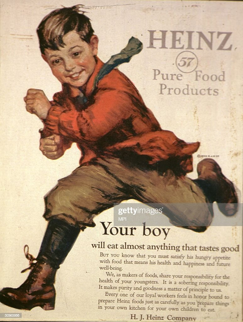 An advertisement for 'Heinz 57 Pure Food Products'. Original Publication: From the Ladies Home Journal.