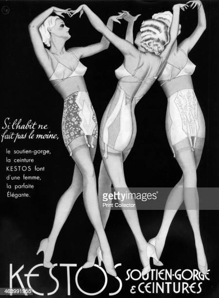 An advertisement for Kestos lingerie 1938 Plate taken from Plaisir de France