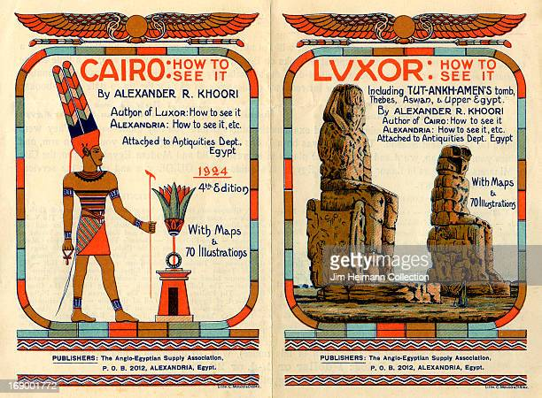 An advertisement for Luxor by The AngloEgyptian Supply Association reads 'Luxor How to See It Including TutAnkhAmen's tomb Thebes Aswan and Upper...