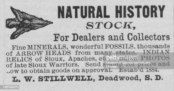 An advertisement for natural history stock published in the 'Authentic World's Fair Journal' dated October to promote the World's Columbian...