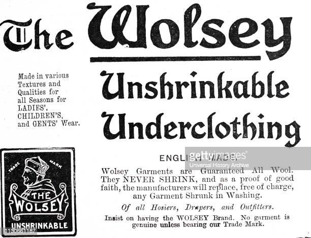 An advertisement for Wolsey underclothes Dated 20th century