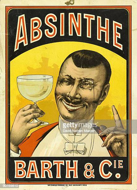 An advertising cartoon for Absinthe Barth Cie based in ChalonsurSaone
