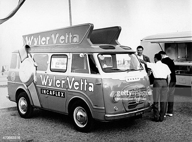 An advertising van of the Wyler Vetta watches brand Italy 1956