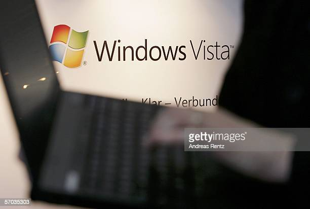 """An advertisnment for Microsoft's new operating system, """"Windows Vista"""" is seen at CeBIT on March 9, 2006 in Hanover, Germany. The world's largest..."""