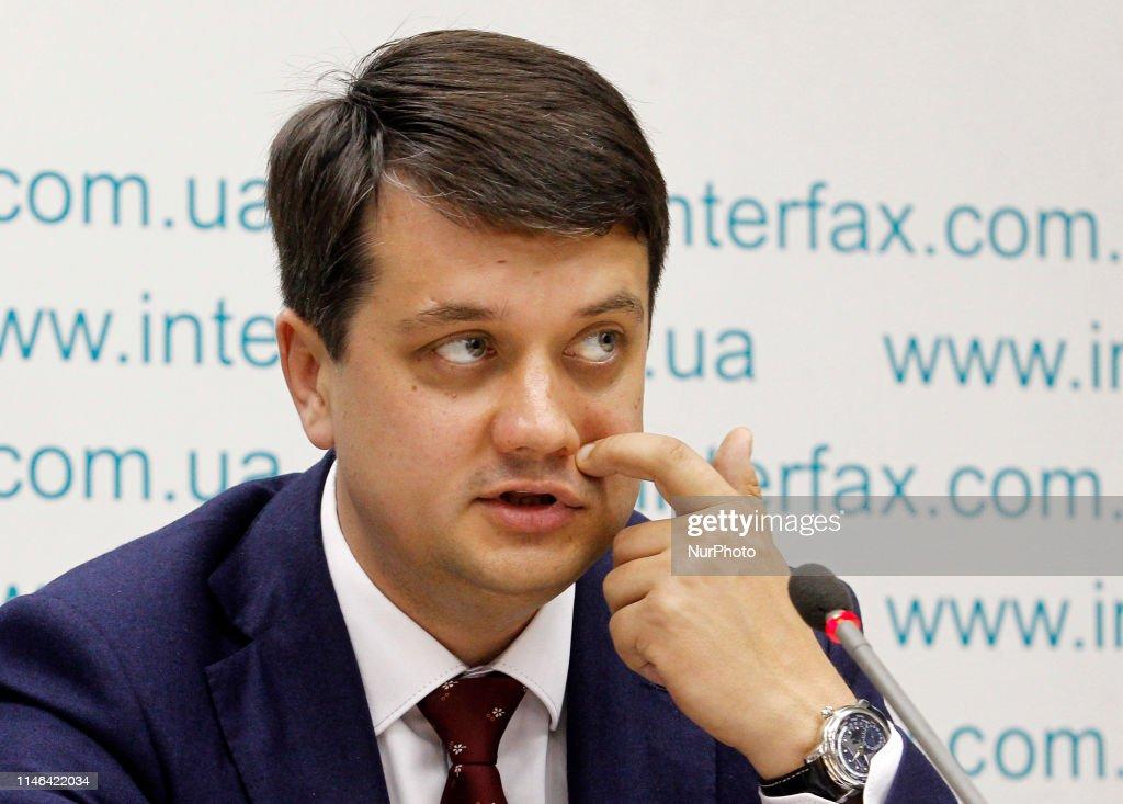 UKR: Leaders Of Ukrainian President Volodymyr Zelensky New Party Press Conference In Kiev